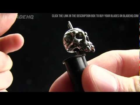 Schmuckatelli Cyber Skull Lanyard Bead (Antique Rhodium Plated)