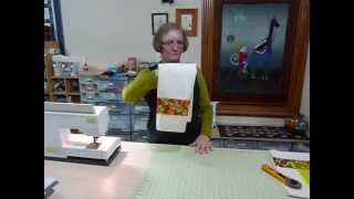 How To Make A Plain Tea Towel More Exciting With Delicious Fabric - Quilting Tips & Techniques 115