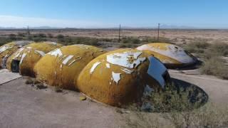 The Weird Abandoned Domes Of Casa Grande Arizona - Phantom 4