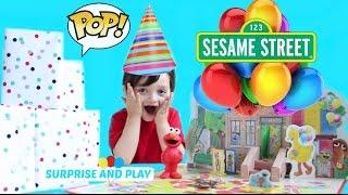 Elmos Birthday Game With Sesame Street Funko Pop Figures