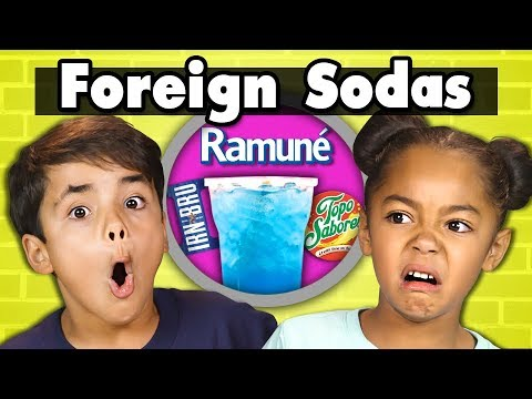 KIDS DRINK FOREIGN SODAS! | Kids Vs. Food