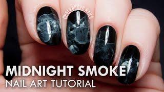 Midnight Smoke Nail Art Tutorial