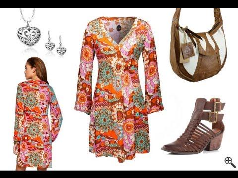 70er Kleider Outfit: Disco & Party Kleider im 70er Jahre Stil