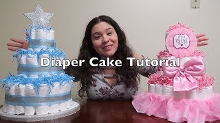 How To Make A Diaper Cake | Easy Steps | SuperWendyTime