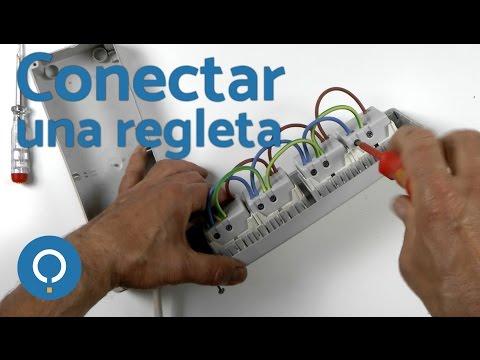 Regleta de enchufes - Cómo empalmar cables eléctricos