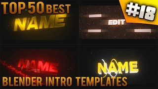 TOP 50 BEST Blender Intro Templates 18 Free Download