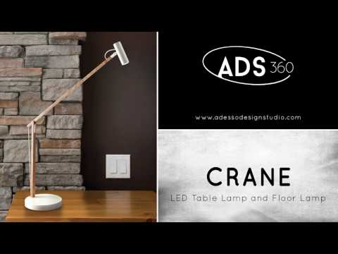 Video for Crane Walnut Wood and Black LED Floor Lamp