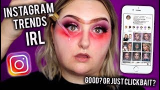 I TRIED DOING MY MAKEUP LIKE INSTAGRAM VIDEOS...