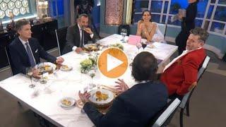 Momento emitido el sábado 27 de junio de 2020 en La noche de Mirtha. Juana Viale se sorprendió por la actitud que tomó uno de los comensales y que terminó alterando el diálogo en la cena.