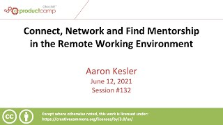 Connect, Network and Find Mentorship in the Remote Working Environment