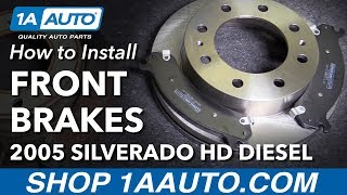 How To Install Replace Front Brake Pads Rotors  Chevy Silverado  Hd Diesel