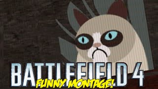 Battlefield 4 Funny Montage! I.E.D Roulette ,Grumpy Cat Kill , Epic Jet Swaps (BF4 Funny Moments)