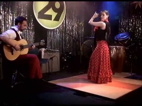 My Spanish Flamenco band the Highland Gypsies on Denver PBS with dancer Ashley Crawford and master hand drummer Emilio Emilo