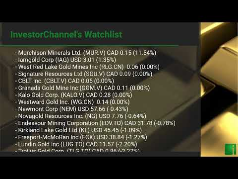 InvestorChannel's Gold Watchlist Update for Tuesday, Octob ... Thumbnail