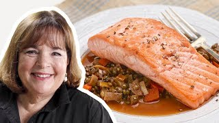 Barefoot Contessa Makes Salmon With Lentils | Food Network