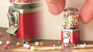 【Miniature】Gumball Machine Made from Scratch That Actually Works | 1:12 Scale