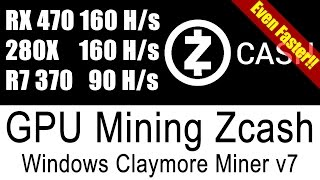 Claymore Zcash Miner V7 Tested On All My AMD GPUs