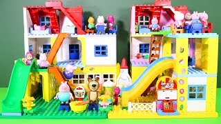 Peppa Pig Legos House Construction Sets - Lego Duplo House With Water Slide Toys For Kids #5
