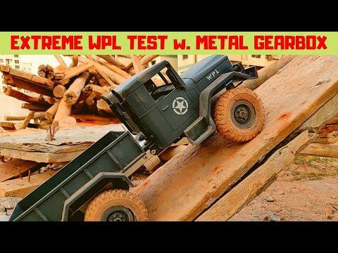 EXTREME TEST | WPL METAL TRANSMISSION | BEST WPL CRAWLER