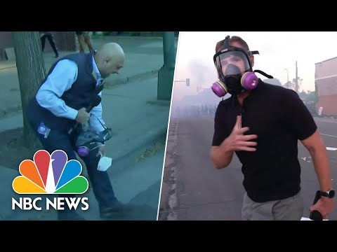 Watch: NBC News Reporters Get Caught In Minneapolis Crowd-Control Effort | NBC News