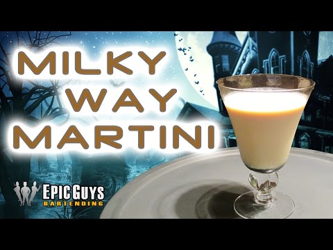 How To Make A Milky Way Martini | Halloween Cocktail Recipe | Epic Guys Bartending
