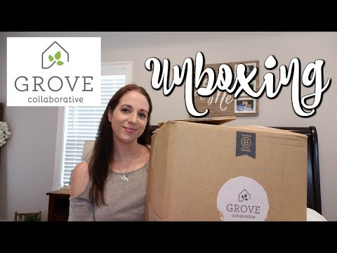GROVE CO. UNBOXING JULY 2018! NATURAL CLEANING PRODUCTS!