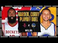 Harden amp Curry Duel In Playoff Showdown