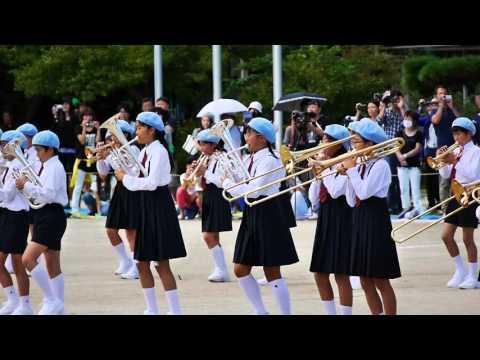 2015前橋市立桃井小学校・運動会・鼓笛吹奏楽演奏