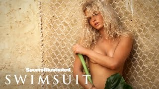Erin Heatherton Wears Nothing But A Leaf In Zanzibar | Intimates | Sports Illustrated Swimsuit
