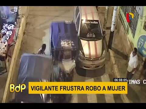 Tumbes: cámara capta intento de robo a transeúnte
