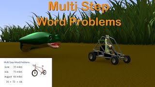 Multi Step Word Problems 4th Grade - Mage Math