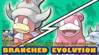 Slowking  - (Pokémon) - Slowbro vs Slowking | Pokémon Branched Evolution (Featuring Professor K)