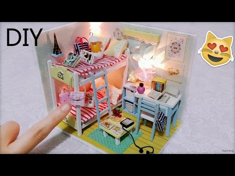 DIY Miniature Dollhouse with Full Furniture Sets&Lights | DIY Room Decor