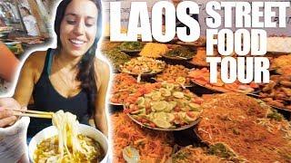 LAOS STREET FOOD TOUR - Sausage, Soup, Sandwich, & Beer