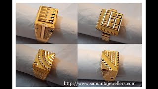 Gold Ring For Men | Latest Gents Ring | Engagement Ring For Men Samanta Jewellers