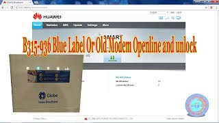 B315 936 Blue Label Or Old Modem Openline and unlock