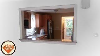 Kitchen-Living Room Passthrough Window