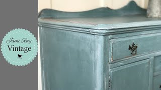 Furniture Flip | How To Milk Paint A Buffet Table