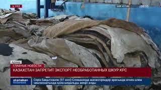Казахстан запретит экспорт необработанных шкур КРС