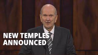 President Nelson Announces Six New Temples