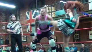 "Veda Scott vs. RD Evans - Beyond Wrestling [Preview] ""Armory Amore"" - Intergender Mixed"