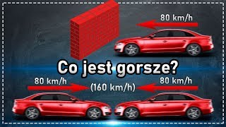 Co jest gorsze: kolizja ze ścianą, czy z samochodem z taką samą prędkością?