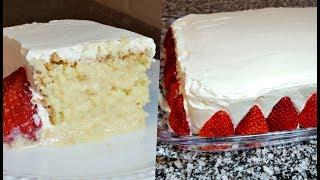 EASY TRES LECHES CAKE   How To Make Tres Leches Cake   Three Milks Cake Recipe