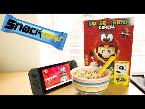 Snacktaku Eats Super Mario Cereal