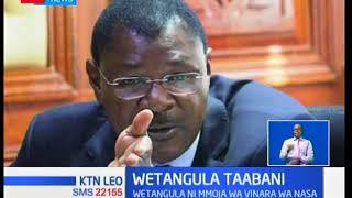 Kiongozi wa walio wachache katika Seneti Moses Wetangula ameondolewa mamlakani