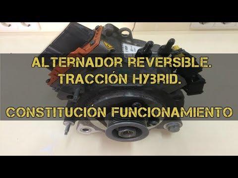 Alternador reversible de tracción híbrida