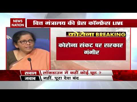 FM Nirmala Sitharaman Announces Rs 1.7 lakh Crore Relief Package To Help Poor