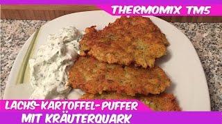 Thermomix® TM5®♥Leckere Lachs-Kartoffel-Puffer mit Kräuterquark