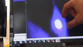 Using a digital microscope for a laser beam focusing.