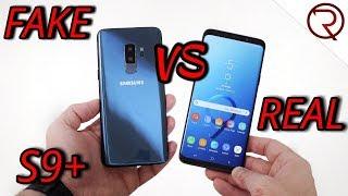 FAKE VS REAL Samsung Galaxy S9 Plus - 1:1 CLONE - Buyers BEWARE!